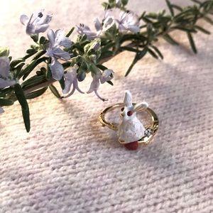 Les Néréides fantasy garden 🐇 adjustable ring